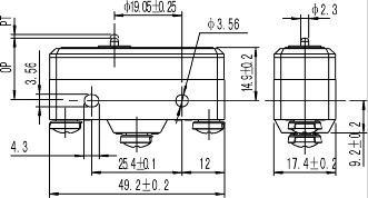 UL APPROVAL Z-25G 25A micro switch