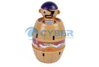 10Pcs/Lot Funny Lucky Stab Pop Up Pirate Barrel Games, Great Gifts Toy Free Shipping