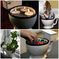 Unique Gift Novelty Items Icecream Pot Coffee Cup Toilet Multi Purpose Mug