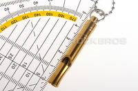 Free Shipping ROCKBROS Titanium Ti Necklace Charm Pendant,Key Chain,Golden Survival Whistle