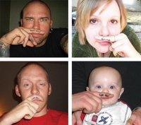 Товары для макияжа Popular Around The World Creative Waterproof Fingers Mustache Tattoo Stickers~TT_001
