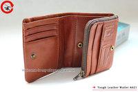 новые жесткие панк-натуральная кожа коричневая Мужская Женская складываемой кошелек портмоне a621 СЗТ