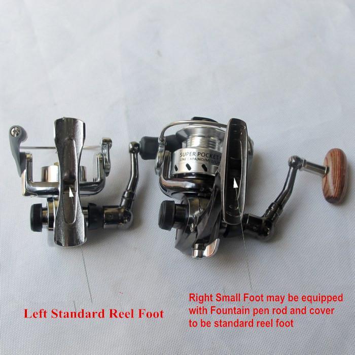 Free shipping world smallest full metal metal mini ice for Mini fishing reel