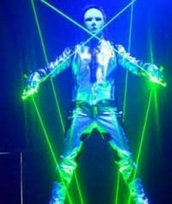 Green laser man show 4