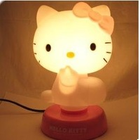 Магниты на холодильник Cheap New LED Hello Kitty Night Sleeping Desk Light Lamp