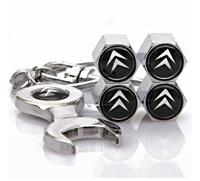 Аксессуары для автомобильных шин Citroen Tire Valve Caps with Wrench Keychain