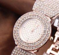 Наручные часы 2012 new styles of the Crystal Rhinestone Rose Gold women 'watch 100% Excellent at Quality