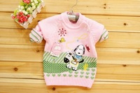 Свитер для девочек 6 pieces/lot 2012 Girls' sweaters, sweater of dog riding