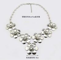 Колье-ошейник shippng jewelry 443-2 Korean jewelry flash drill five leaves flower necklace