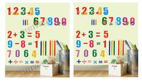 5pcs/lot 49.5 x 35 cm Kids number Art Deco Mural Cartoon PVC Wall Sticker free shipping 6810