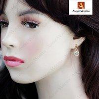 Emulational Diamond 18K Rose Gold Plated Dangle Earrings Use Swaro Crystal E080R1