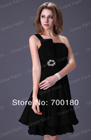 Коктейльное платье 1pc/lot J&K Formal Cocktail Party Prom One Shoulder Women Sexy Dresses New Fashion CL1004
