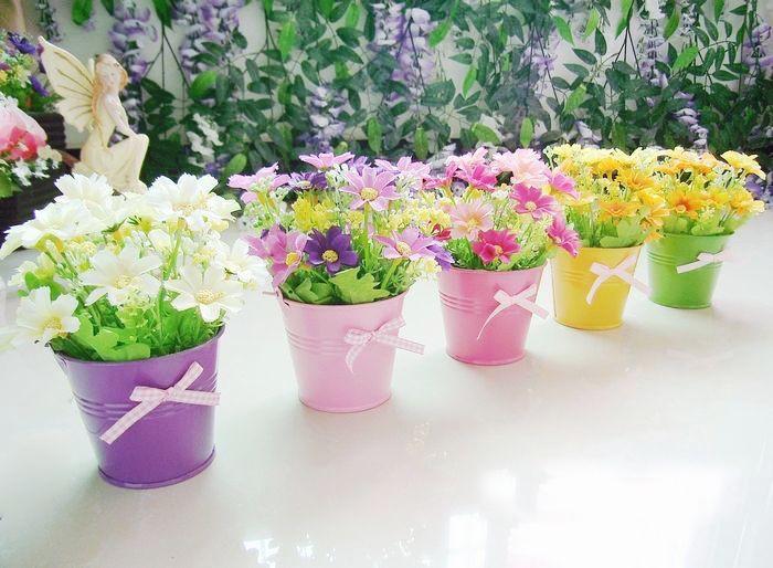 Горшочки для искусственных цветов своими руками