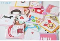 Симпатичные мини-поздравительные открытки с конверт, подарочные карты, карты Холлидей, любителей Извините прямые карты