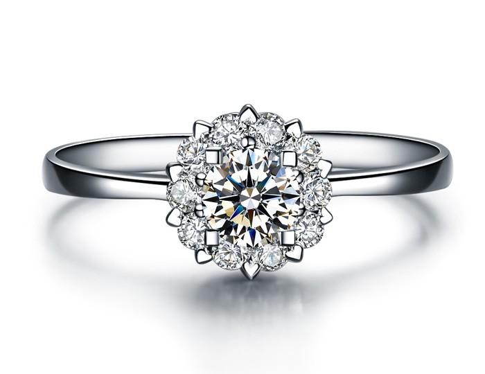 love you alluring stunning genuine engagement rings pure diamond rings victoria vault - Real Diamond Wedding Rings