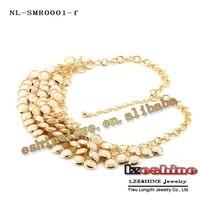 Колье-ошейник Big Sale Women Fashion Golden Plated Multicolor Statement Necklaces Wedding Jewelry 6 Colors Options NL-SMR0001mix1