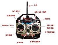 большой двойной лошади 75 см 3ch dh9053 rc вертолет металлокаркаса rtf радио управления высокая скорость гироскопа вертолета dh 9053
