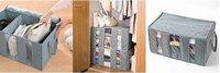 новый организатор Новинка серый 60 * 37 * 34 см ручной складной бамбукового древесного волокна мягкого домашнего хранения сумка сортировка мешки одеяло