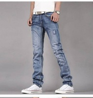Мужские джинсы Casual slim jeans, man jeans famous brand 100%cotton, best price A011