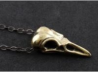 Темная мечта стиль ретро птица черепа кулон ожерелье лучший подарок