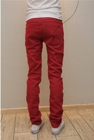 Мужские джинсы 2012 fashion hot men's candy leasure slim figure denim jeans pants 10 color