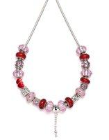 Колье-цепь Valentine silver charm necklace C117