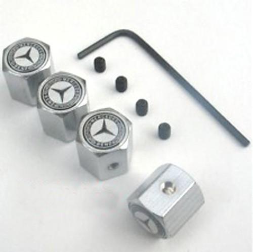 Anti theft tire valve cap for mercedes benz safety car for Mercedes benz valve stem caps