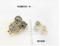 Free Shipping wholesale lovely Retro owl earring.fashion jewelry earring.Alloy jewelry.fashion jewelery. Hot ~ Super value