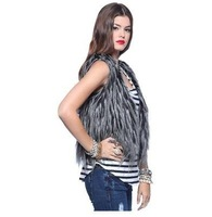 2012 new Autumn and Winter Women's basic style hot sell  Faux Fur short vest coat,free shipping,C0062