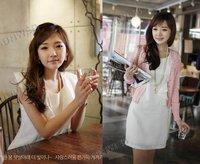 Korea Fashion Women's Sleeveless Chiffon Boat Neck Flouncing Dress Slim Vest Mini Dress FREE SHIPPING 3831