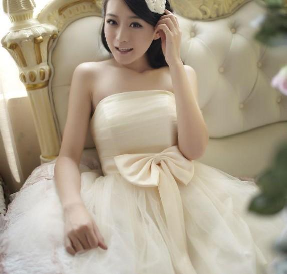 Dress lovely dress korean short paragraph in bridesmaid dresses