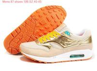 Мужская обувь для бега Max 8 Colors 2013 Mens 87 trainers Running Shoes Top quality sneakers shoes Euro Size 40-45 Сетка (Air Mesh) Шнуровка Весна / осень