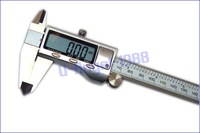 "6"" 150mm Metal Housed Fractional Digital Vernier Caliper with Extra battery+ Free shipping"