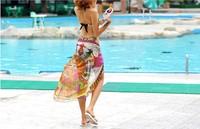 Женская туника для пляжа Newest 2013 Womens Chiffon Sexy Wrap Dress Sarong Beach Cover Up Scarf