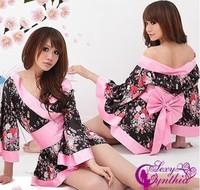 Free Shipping Wholesale Sexy Lingerie Women dress 2012 Kimono Costume sleepwear Sex Doll Sexy Costumes Factory Price Lingeries