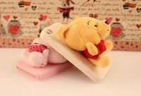 New desing free shipping plush cute bear cell-phone case for Iphone 4/4S/5