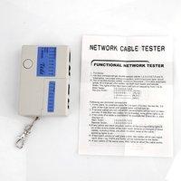 Тестовое оборудование 9 LED RJ45 RJ11 Mini Cat5 Network LAN Cable Tester