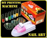 One set DIY Nail Polish Nail Art Printer Machine Stamper Kit  FREESHIPPING