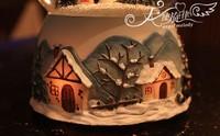 Romantic Crystal Ball Music Box  Rotating Light Snowing House Girls Birthday Gifts Christamas Gifts