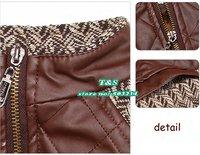 Wholesale children jackets,boys warm cotton coat,kids autumn  winter outerwear,leather jacket 3 pcs/lot,free shipping