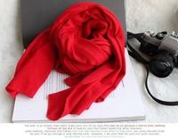 Женские шарфы, Шапки, Комплекты SCARF WOMEN 2013 FASHION SOLID PATTERN SCARF FEMALE MODELS SUPER LONG 180CM WOMEN SCARF