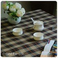Скатерть North American Country style cotton and linen tablecloths / tablecloth / table cloth / sofa cloth/ England Coffee grid/57'*88