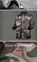Top Sale Men's Casual Canvas Sports Jersey Baseball Jacket Sweater Coat M L XL XXL Camo/Grey/Black/Red/Blue