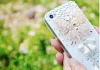 free shipping cat's eye butterfly pentant  mobile-phone case for Iphone 4/4S/5