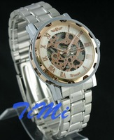 Наручные часы 2010 Self-winding AUTO Menchancial Skeleton Mens Wristwatch