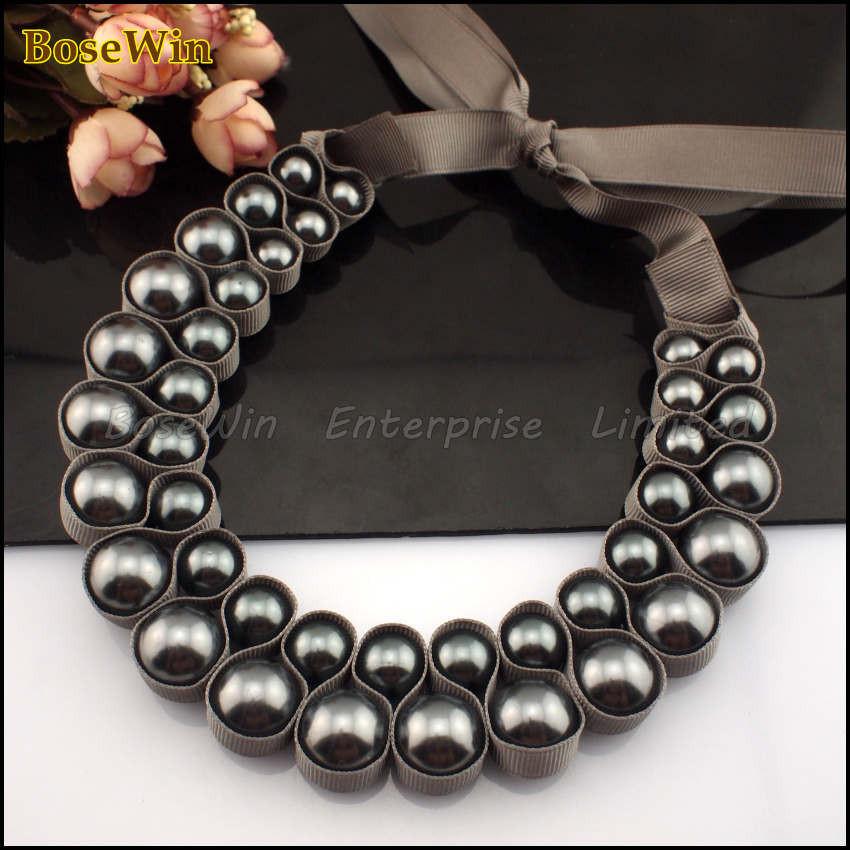 ожерелье на лентах своими руками