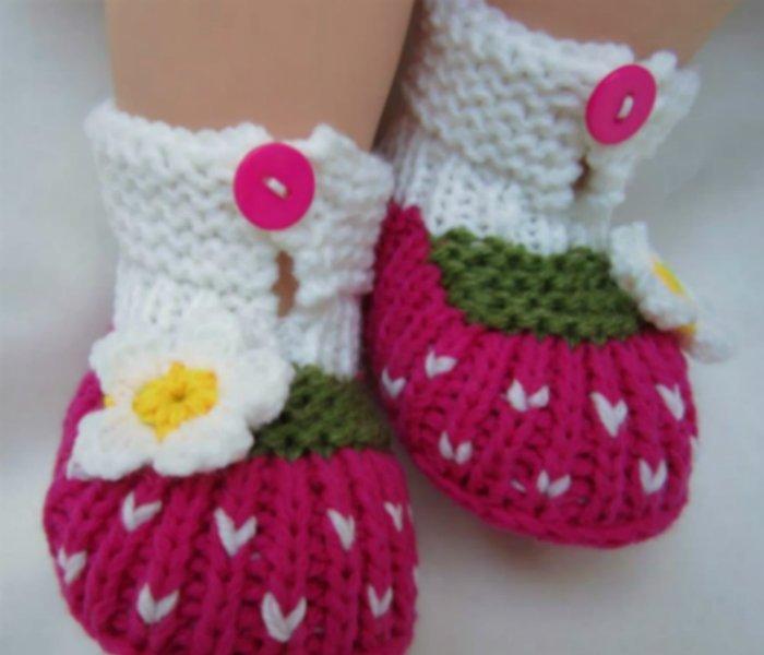 Zapatos tejidos bebé niña - Imagui