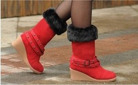 2012 hot sale ladies boots free shipping snow boots women winter chocolate red sand chestnut