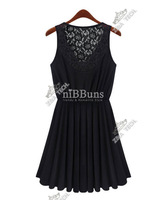 Женское платье Z172 ]Hot sale 2013 Fashion Brand new ladies lace dresses, Women's elegant back lace vintage black dress