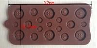 Украшения для выпечки 1PCS fastener shape Muffin Sweet Candy Jelly fondant Cake chocolate Mold Silicone tool Baking Pan DIY B162